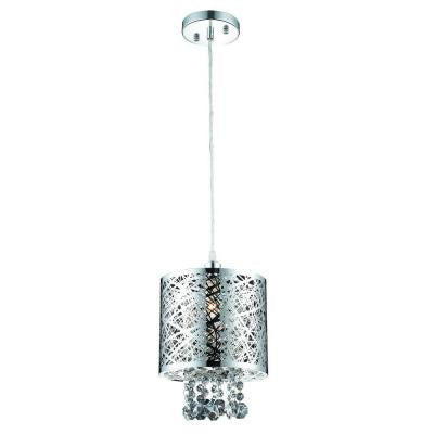 1-Light Chrome Small Pendant