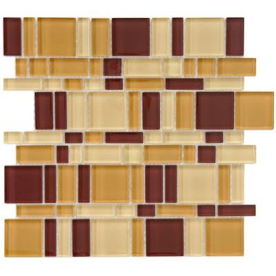Tessera Magic Suede 11-3/4 in. x 11-3/4 in. x 8 mm Glass Mosaic Wall Tile