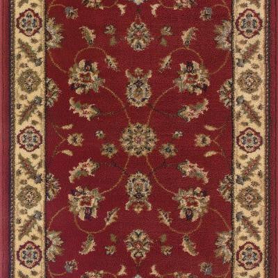 Canyon Kazmir Red 26 in. x 50 ft. Roll Rug Runner