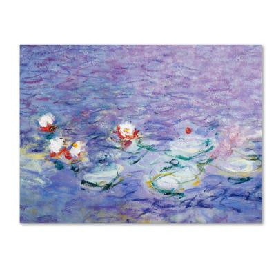 "18 in. x 24 in. ""Water Lilies II 1840-1926"" Canvas Art"