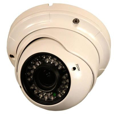 Vari-Focal 2.8 to 12 mm Lens Metal Dome Camera with 800 Line 960H Imager, IR Cut Filter, 36 IR LED and Installation Kit