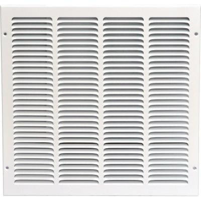 16 in. x 16 in. Return Air Vent Grille, White with Fixed Blades