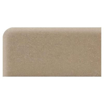 Rittenhouse Square Elemental Tan 3 in. x 6 in. Ceramic Surface Bullnose Left Corner Tile