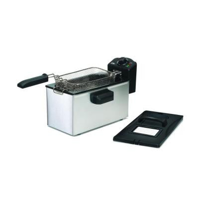 Gourmet 3.5 qt. Immersion Deep Fryer in Stainless Steel