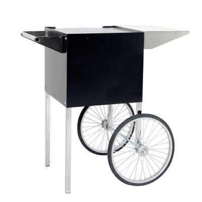 Professional 4 oz. Small Popcorn Cart in Black