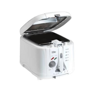 Cuisine 2 qt. Cool Touch Deep Fryer with Timer in White