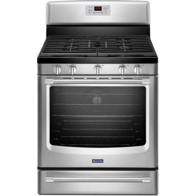 AquaLift 5.8 cu. ft. Gas Range with Self-Cleaning Convection Oven in Stainless Steel
