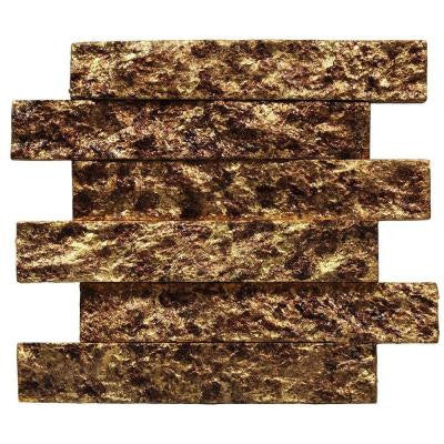 Bedeck Antique Gold Stone Tile - 2 in. x 3 in. Tile Sample