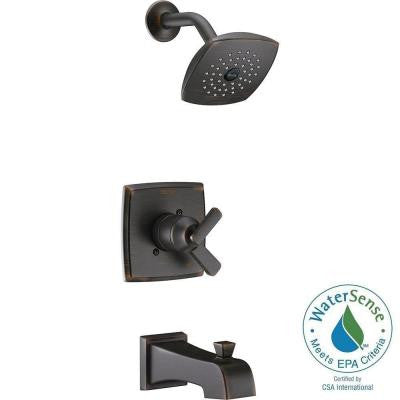Ashlyn 1-Handle Pressure Balance Tub and Shower Faucet Trim Kit in Venetian Bronze (Valve Not Included)
