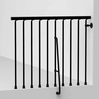 Civik 47 in. Black Balcony Rail Kit