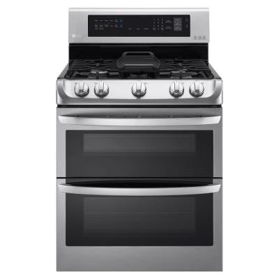 6.9 cu. ft. Gas Double Oven Range with ProBake Convection in Stainless Steel