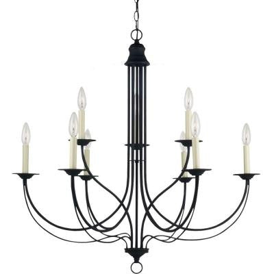 Plymouth 9-Light Blacksmith Multi-Tier Chandelier