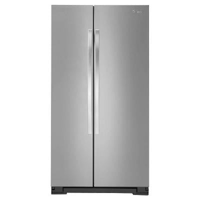 24.9 cu. ft. Side by Side Refrigerator in Monochromatic Stainless Steel