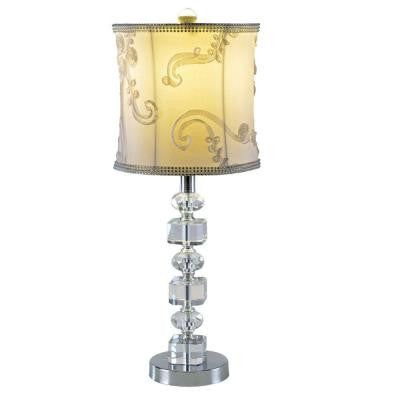 23 in. Chrome Accent Lamp