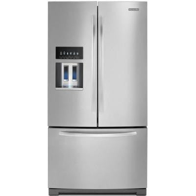 Architect Series II 26.8 cu. ft. French Door Refrigerator in Monochromatic Stainless Steel