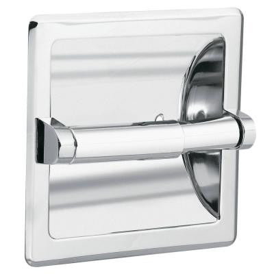 Recessed Toilet Paper Holder and Clamp in Chrome