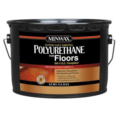 2.5 gal. Semi-Gloss Super Fast-Drying Polyurethane for Floors