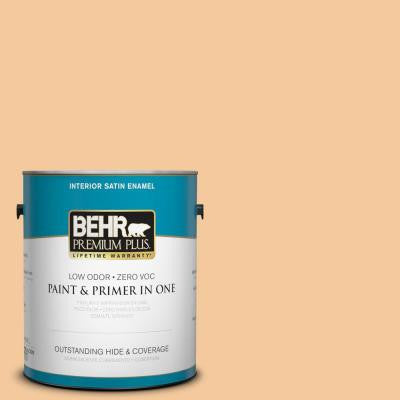 1-gal. #M240-4 Sheer Apricot Satin Enamel Interior Paint