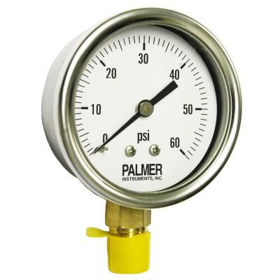 2.5 in. Dial 60 psi Stainless Steel Case Gauge