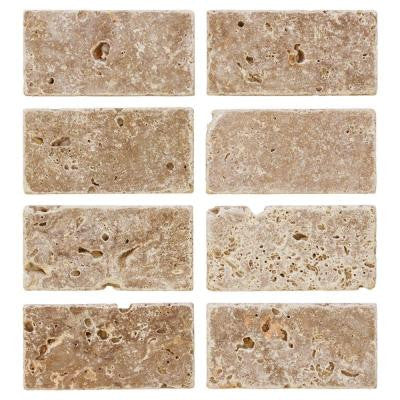 Travertine Noce 6 in. x 3 in. Travertine Wall and Floor Tile (8 pieces / 1 sq. ft. / pack)
