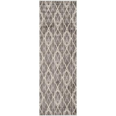 Amherst Grey/Light Grey 2 ft. 3 in. x 7 ft. Indoor/Outdoor Runner