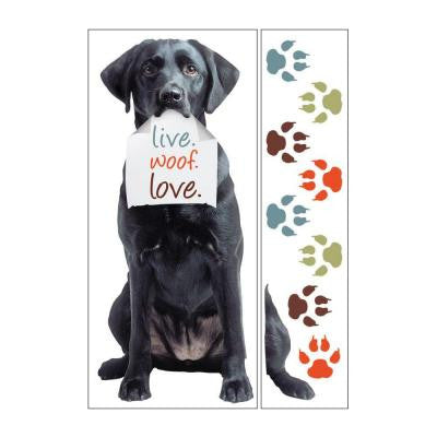 Removable and Repositionable Ultimate Wall Sticker Mini Mural Appliques Black Lab