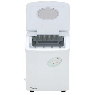 27 lb. Portable Ice Maker in White