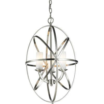 Gala 3-Light Brushed Nickel Pendant