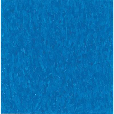 Imperial Texture VCT 12 in. x 12 in. Caribbean Blue Standard Excelon Vinyl Tile (45 sq. ft. / case)