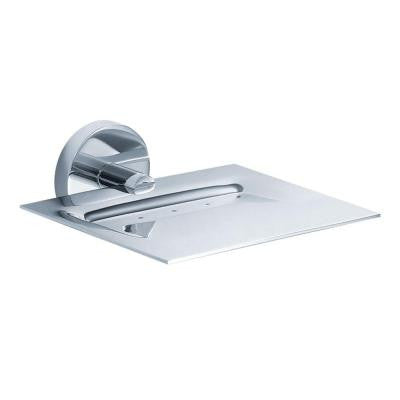 Imperium Wall-Mounted Brass Soap Dish in Chrome