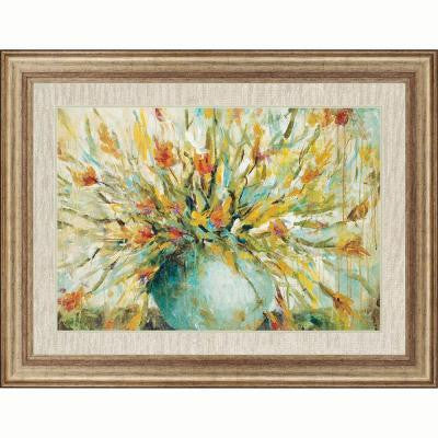 "35 in. x 46 in. ""Grande Bouquet"" by Wani Pasion Framed Printed Wall Art"