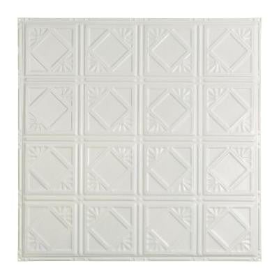Ludington 2 ft. x 2 ft. Nail-up Tin Ceiling Tile in Matte White