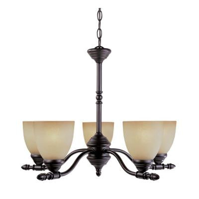Branson Collection 5-Light Oil Rubbed Bronze Hanging Chandelier