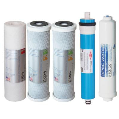 Ultimate Complete Replacement Filter Set for 90 GPD High Flow 5-Stage Systems