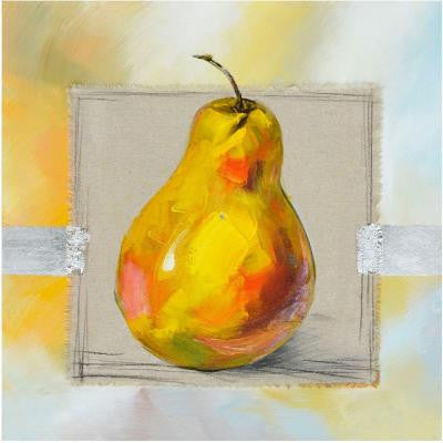 "28 in. x 28 in. ""Fruit Of The Day II"" Hand Painted Contemporary Artwork"