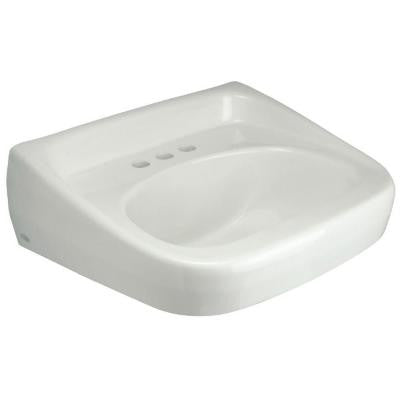 Wall Mounted Bathroom Sink in White