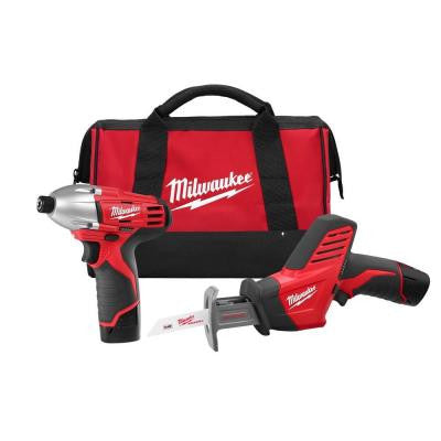 M12 12-Volt Lithium-Ion Cordless Impact Driver/Hackzall Combo Kit (2-Tool)