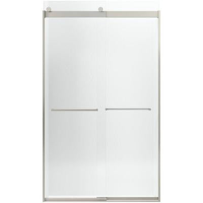 Levity 47-5/8 in. x 82 in. Semi-Framed Sliding Shower Door in Brushed Nickel