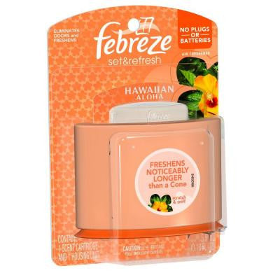 Set and Refresh 0.18 oz. Hawaiian Aloha Cartridge Air Freshener Starter Kit