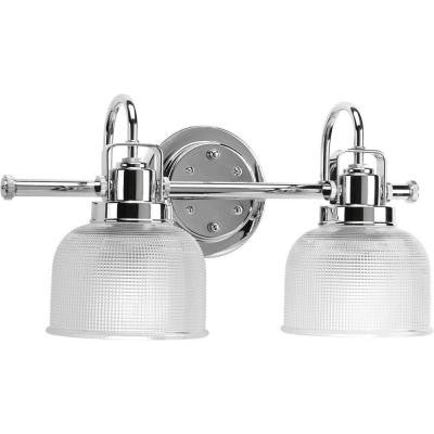 Archie Collection 2-Light Chrome Bath Light