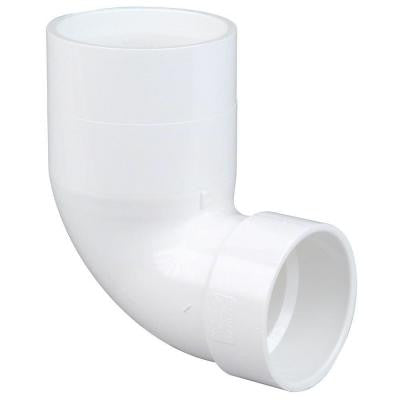 4 in. x 3 in. PVC DWV 90 Degree Spigot x Hub Street Closet Elbow