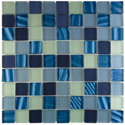 Atlantis Abalone 11-3/4 in. x 11-3/4 in. x 8 mm Glass Mosaic Tile