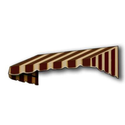 10 ft. San Francisco Window Awning (44 in. H x 24 in. D) in Brown/Tan Stripe