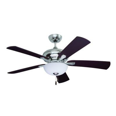 Zephyr 52 in. Brushed Steel Indoor Ceiling Fan