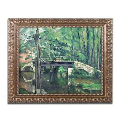 "16 in. x 20 in. ""View of the Marsailles Bay"" by Paul Cezanne Framed Printed Canvas Wall Art"