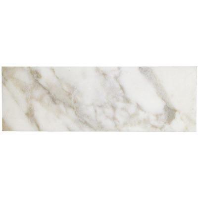Calacatta Gold 6 in. x 18 in. x 10 mm Polished Marble Mosaic Tile