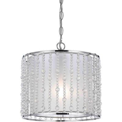 Candice Olson Bijou Collection 1-Light Clear Pendant with Clear Plastic Bead Accents