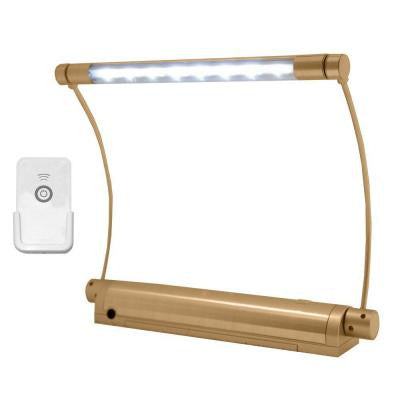 Wireless Gold 8-LED Picture Light with Remote Control