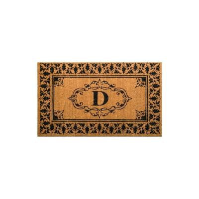 Welcome 30 in. x 48 in. Indoor/Outdoor Monogrammed Letter D Door Mat