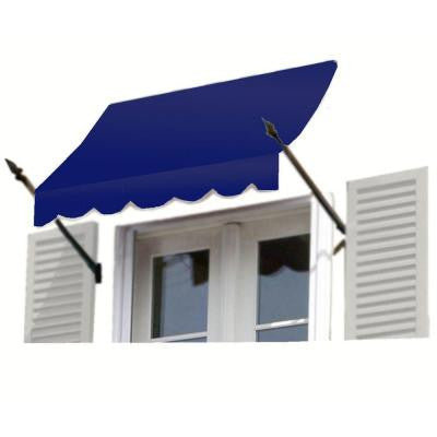 20 ft. New Orleans Awning (56 in. H x 32 in. D) in Navy